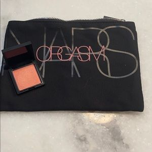 Mini nars orgasm blush and cotton cosmetics bag